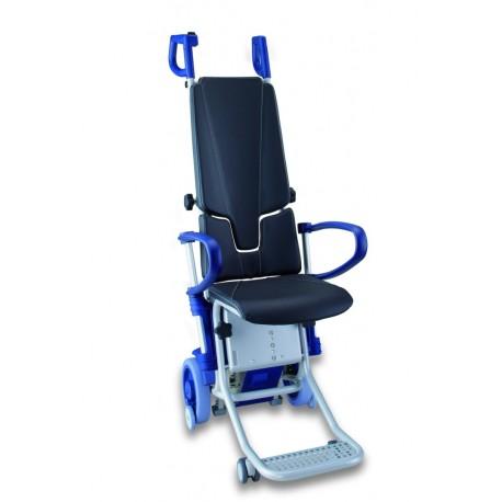 Escalino Montascale a ruote con poltroncina per uso professionale - www.prezzi-ausili-per-disabili.it