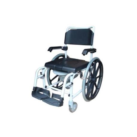 Sedia comoda per doccia Wave 2 con ruote 24''