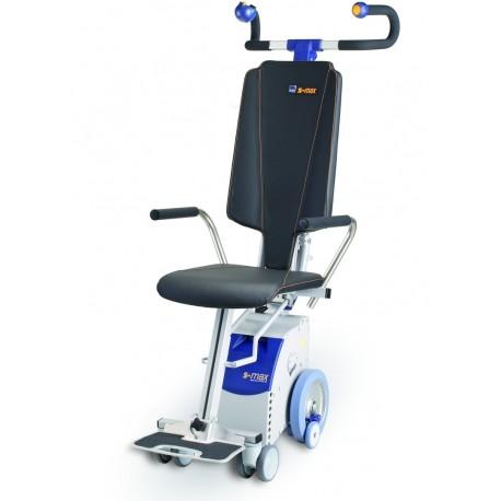S-MAX Sella Montascale a ruote per carrozzina con seggiolina - www.prezzi-ausili-per-disabili.it