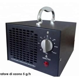 Generatore ozono per sanificazione e sterilizzazione ambienti portatile da 5g/h