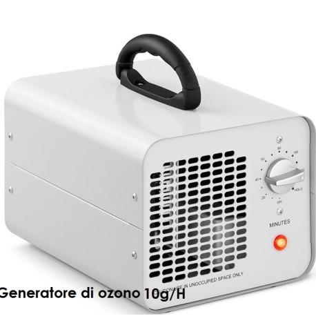Generatore di ozono per sanificazione e sterilizzazione ambienti portatile 10 g/h